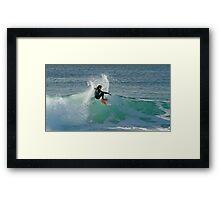 Surfing The Lake - Culburra Beach Framed Print