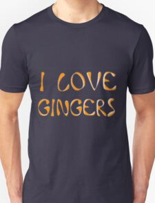 I love gingers Unisex T-Shirt