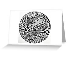 Structured Chaos Greeting Card
