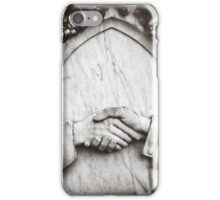 """ Clasped Hands "" ... Graveyard Adornments #63  iPhone Case/Skin"