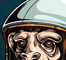 Space Monkey Astronaut Chimp Sticker