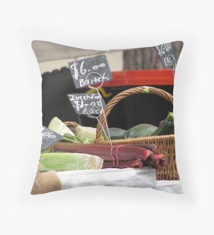 Vegetables for Sale - Rocks Market Sydney Australia Throw Pillow