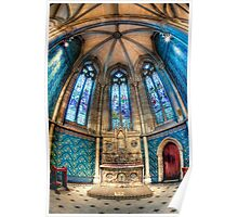 Chapel of St Thomas Aquinas • St Patrick's Cathedral • Melbourne Poster