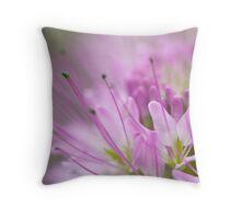 Dreamy Bee Flower Throw Pillow