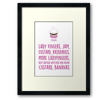 Rachel's traditional English trifle Framed Print