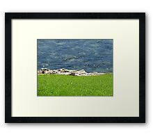 Land Rock and Sea Framed Print
