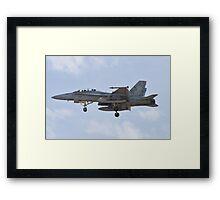 F/A-18 Hornet on approach Framed Print