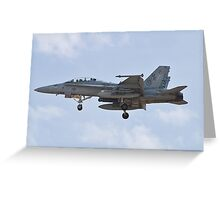 F/A-18 Hornet on approach Greeting Card
