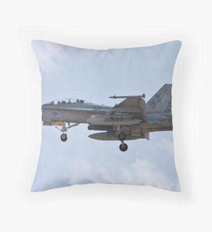 F/A-18 Hornet on approach Throw Pillow