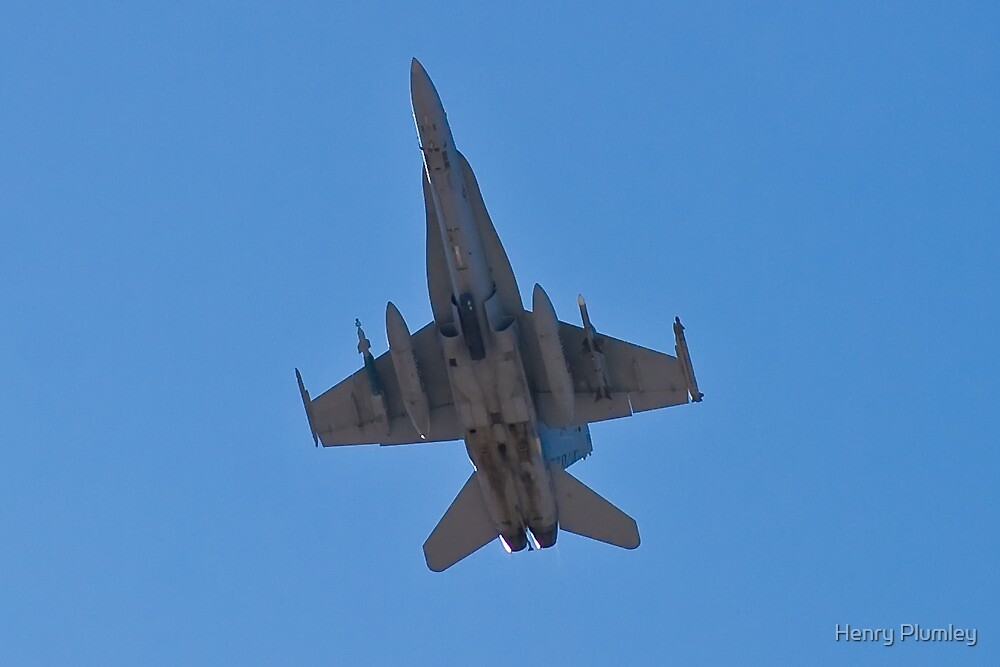 F/A 18 Hornet Belly by Henry Plumley