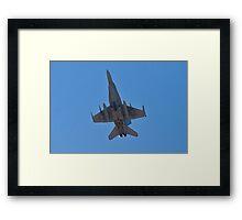 F/A 18 Hornet Belly Framed Print