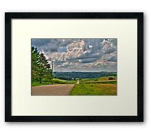 Back-roads Framed Print