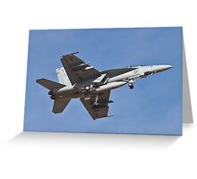 F/A 18 Hornet belly Greeting Card
