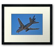 Flying gas station Framed Print