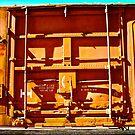 Boxcar Door Beauty by locomotive
