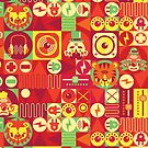 Electro Circus Pattern by chobopop
