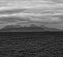 Eigg, Rum, Sea and Sky by Mark Baldwyn