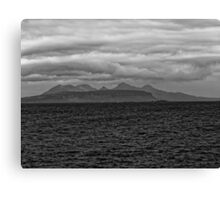 Eigg, Rum, Sea and Sky Canvas Print