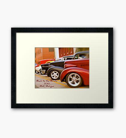 Back to the Bricks Classic Cars 2010 Framed Print