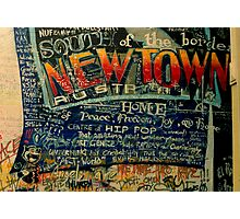 South of the Border.... Newtown graf Photographic Print