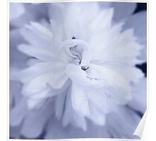 Blue Flower With Canvas Effect Poster