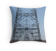 Powerlines for Aluminium Throw Pillow