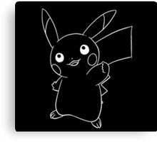 Line pikachu Canvas Print