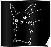 Line pikachu Poster