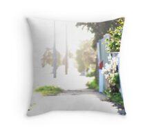 Footpath Going Home - Derrinallum Victoria  Throw Pillow