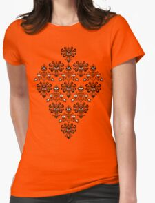 Owl, Ghost and Cyclops Monster Pattern Art Womens Fitted T-Shirt