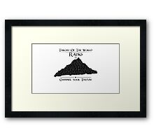 Throat of the World Radio - Black on White Framed Print