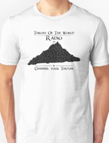 Throat of the World Radio - Black on White T-Shirt