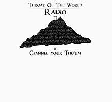Throat of the World Radio - Black on White T-Shirt
