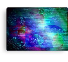 Abstract  & Flowers. Canvas Print