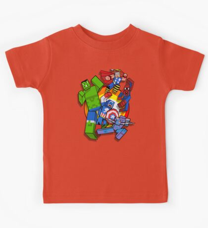 Cute Cube superheroes Group Kids Tee