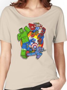 Cute Cube superheroes Group Women's Relaxed Fit T-Shirt