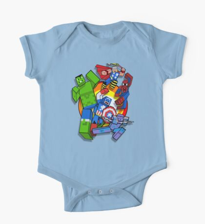 Cute Cube superheroes Group One Piece - Short Sleeve