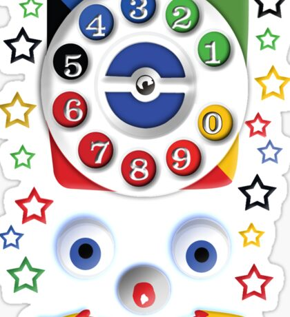 Smiley Toys Dial Phone Sticker