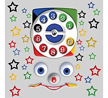 Smiley Toys Dial Phone Photographic Print