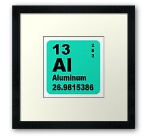 Aluminium Periodic Table of Elements Framed Print