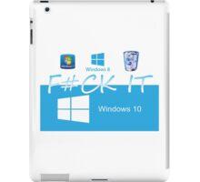 Windows 10 Funny iPad Case/Skin
