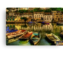 High Tide At Polperro Canvas Print