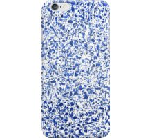 Blue paint drops and splashes iPhone Case/Skin