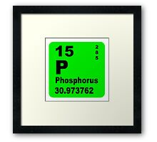 Phosphorus Periodic Table of Elements Framed Print