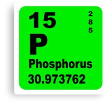 Phosphorus Periodic Table of Elements Canvas Print