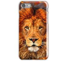 Old Lion Digital art Painting iPhone Case/Skin
