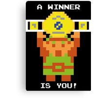 A Winner Is You! Canvas Print