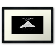 Throat of the World Radio - White on Black Framed Print