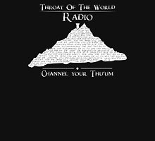 Throat of the World Radio - White on Black Unisex T-Shirt