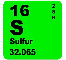 Sulfur Periodic Table of Elements by walterericsy